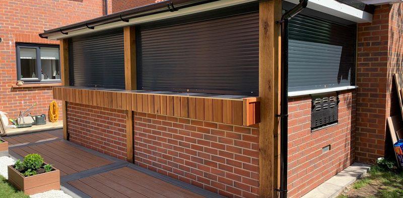 garden bar shutters